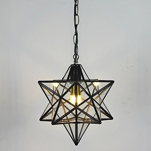 Clear glass star pendant light retro style lamp shade chandelier clear glass star pendant light retro style lamp shade chandelier ceiling hanging droplight for cafe loft mozeypictures Choice Image
