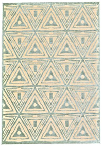 Feizy Rugs Saphir Mah Collection Imported Area Rug, 9'8'' x 12'7'', Cream/Spa Blue by Feizy Rugs (Image #2)