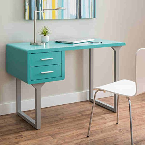 Retro Turquoise and Grey Writing Desk by Generic