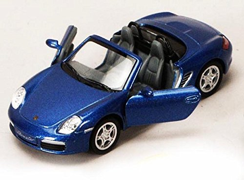 Porsche Boxster S Convertible, Blue - Kinsmart 5302D - 1/34 scale Diecast Model Toy Car (Brand New, but NO BOX)