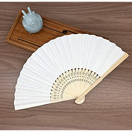 White Mulit Colors Paper Bamboo Folding Hand Fan Decoracion Fiestas Decoration Mariage Abanicos Para Boda