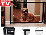 ZDU Pet Gate Magic Gate Pet Safety Enclosure (47.25x31.45〃) Portable Folding Safe Guard Install Anywhere