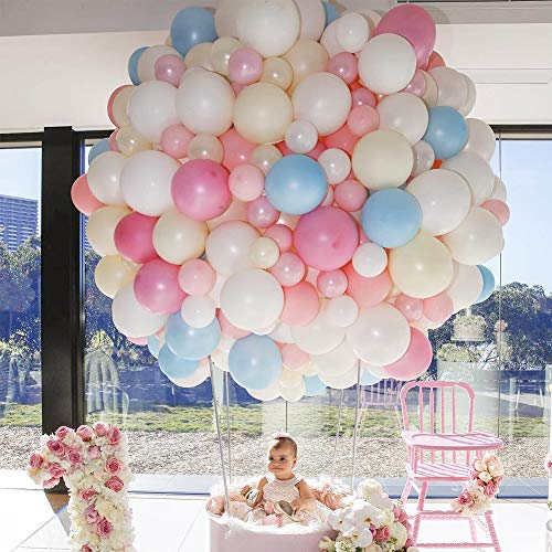 PartyWoo Balloons 100 pcs 10 Inch Party Balloons Latex Balloons Birthday Balloons Helium Balloons Party Decor Party Supplies for Birthday Wedding Graduation Party Christmas Baby Shower - Muiticolor ()