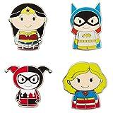 Hallmark itty bittys DC Super Hero Girls Collectible Enamel Pins, Set of 4 Jewelry Accessories Movies & TV; Superheroes