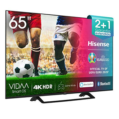 Hisense UHD TV 2020 65AE7200F – Smart TV Resolución 4K con Alexa integrada, Precision Colour, escalado UHD con IA, Ultra…