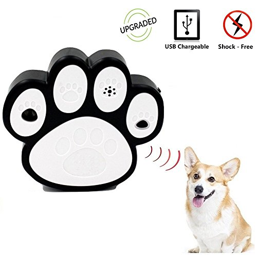 Super [Newest Mode] Ultrasonic Dog Bark Controller Anti-Barking Device Dog Bark Deterrent and Training in Dog Paw Shape (Sonic Fence)