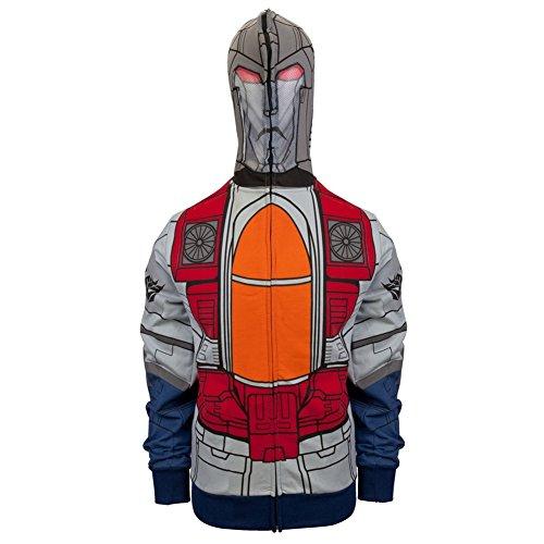 Transformers - Mr. Scream Costume Zip Mens Hoodie 2X-Large (Transformer Costumes For Sale)