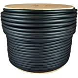 GLS Audio 500 feet Bulk Professional Speaker Cable 12AWG 4 Conductor Black - 12 Gauge Patch Cord 12/4 Wire - Pro 500 Spool Roll 12G 4 Cond Bulk