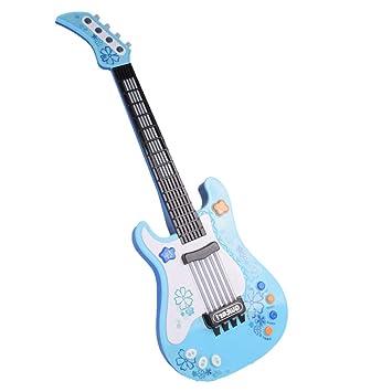 BOROK Guitarra Electrica Juguete Instrumento de Cuerda para Niños ...
