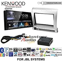 Volunteer Audio Kenwood DDX9704S Double Din Radio Install Kit with Apple Carplay Android Auto Fits 2005-2011 Toyota Tacoma with Amplified System (Light Silver)