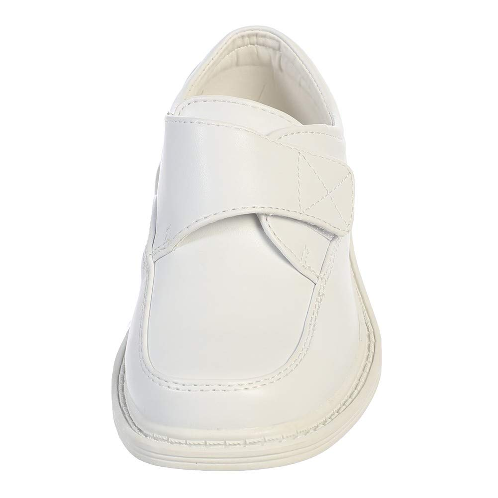 Lito Little Boys White Velcro Matte Special Occasion Dress Shoes Kids