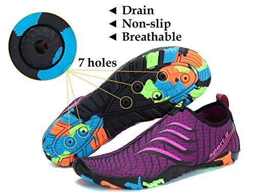 Damen Surfschuhe Rose Badeschuhe Herren Aquaschuhe Schuhe Strandschuhe Tmaza Wasserschuhe Lila Wassersport Schwimmschuhe Barfuß Rutschfeste XnRgwqTOx8