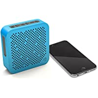 JLab Audio Crasher MINI, METAL BUILD Portable Splashproof Bluetooth Speaker with 10 Hour Battery - Blue