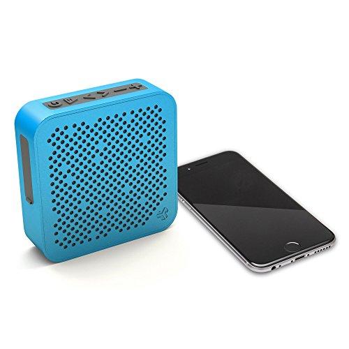 JLab Audio Crasher Mini, Metal Build Portable Splashproof Bluetooth Speaker with 10 Hour Battery - Blue