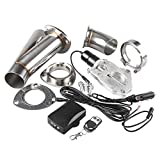 Ruien 3 Inch/76mm 1PCS Electric Exhaust Cutout Y Pipe Valve Motor Kit With Remoter