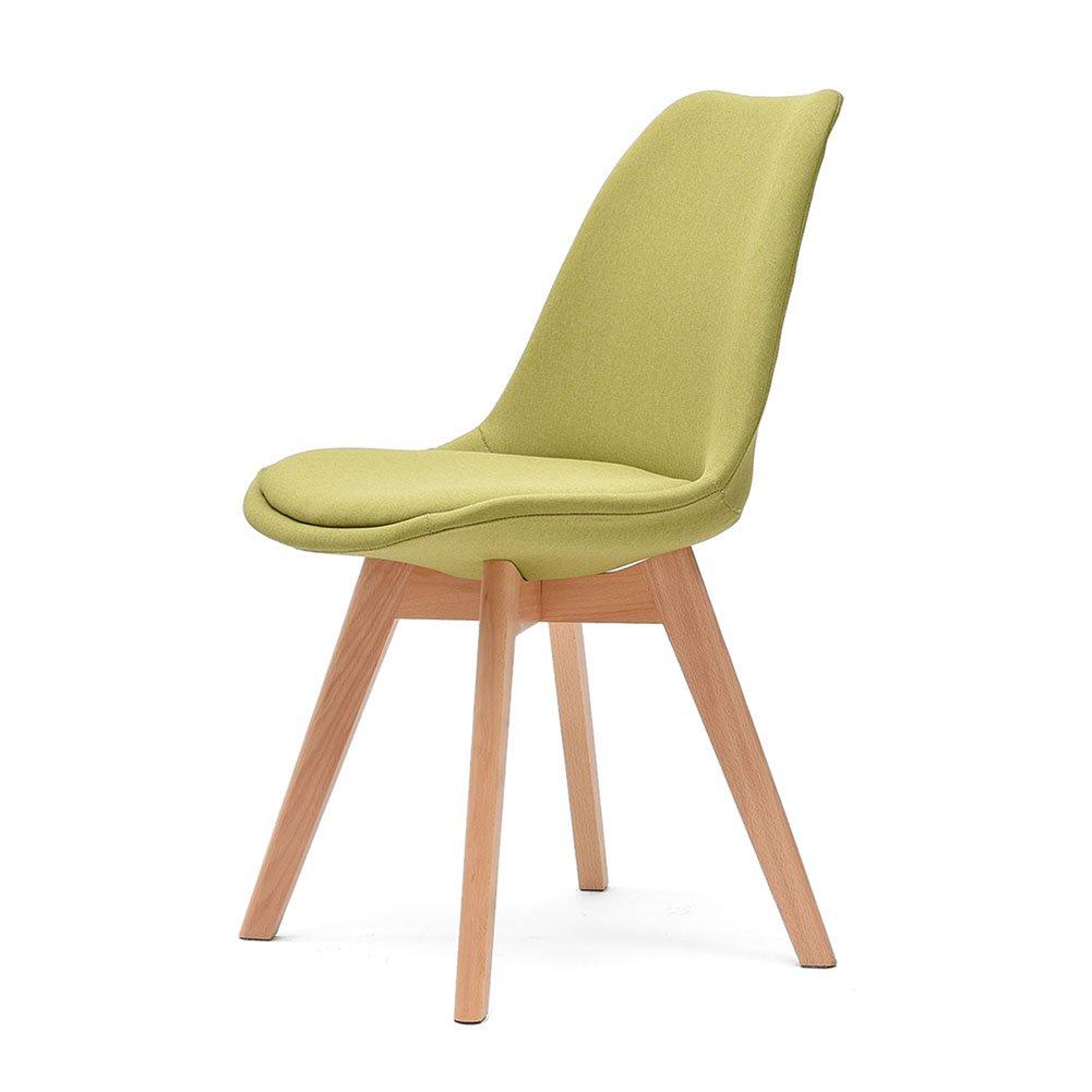ZEMIN ダイニングチェア椅子の木の木製折り畳み 椅子 シート スツール ラダー 表 ポータブル 木製 バックレスト 無垢材 パッド入り 多機能、 5色あり、 43x43x83CM ( 色 : 緑 ) B078RKH7J1 緑 緑