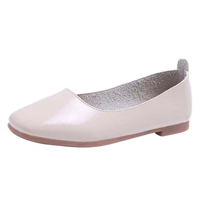 Zapatos Mujer Primavera Verano Mocasines para Mujer Zapatillas Planas de Color sólido, Color Claro, Punta Plana, tacón bajo, Zapatos Planos, Zapatos únicos ...