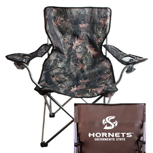 CollegeFanGear Sacramento State Hunt Valley Camo Captains Chair 'Official Logo' by CollegeFanGear