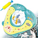 Nai-B Swim Mom Inflatable Float Ring, Swim Trainer Tube for Kids. Teach Children to Be Familiar with Water & Have Fun While Playing in Pool. Enjoy Swimming with Safety Waist Floating Ring. [Mint]