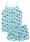 Esme Girl's Sleepwear Camisole/Boxer Shorts Pajama Set 6 Emoji