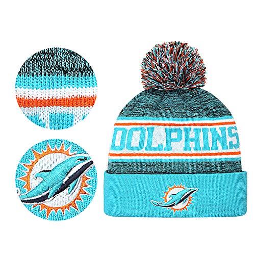 Gloral HIF Miami Dolphins Winter Cuffed Hat Fashion Toque Cap for Mens (Mens Fashion Miami)