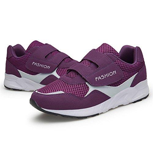 Walking Safety Non Comfort Purple Hook Flats Show Casual Sneakers Shoe Leader Loop Women's Elderly Slip amp; RqZX0