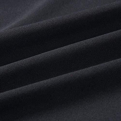 de Color sin en Mini Negro Sexy V Vestido Mangas con Eslinga Mangas sólido Mujeres VJGOAL sin Volante Irregular Cuello Las de Ajustada wYUqOxH8