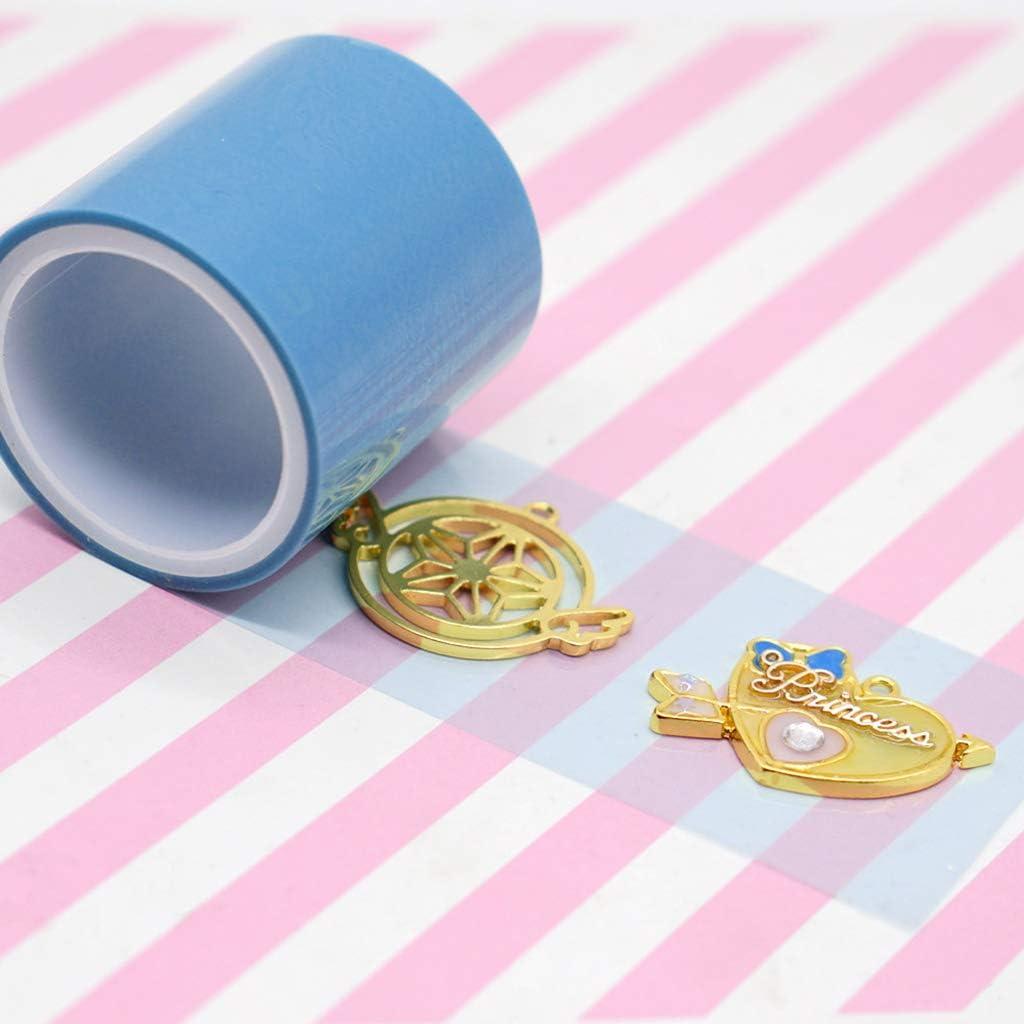 yersty 1 Roll 5m UV Tape DIY Epoxy Resin Crafts Tools Metal Frame Anti-Leak Glue Adhesive Transparent Jewelry Making Tools