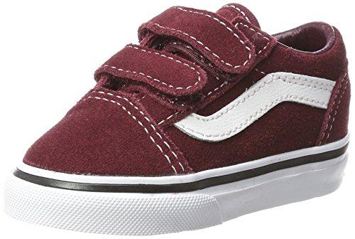 - Vans Old Skool V Suede, Unisex Babies Trainers, Red (Suede/Port Royale/Black), 8 (25 EU)