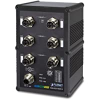 PLANET Industrial IP67 Rated 6-Port 10/100/1000T M12 Managed Ethernet Switch / IGS-5227-6MT-X /