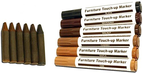 Furniture Repair - Touch up Markers - Scratch Restore & Repair Touch-Up Kit System. For Stains, Scratches, Wood Floors, Tables, Desks, Carpenters, Bedposts Felt Tip Markers (12 PC Furniture Repair)