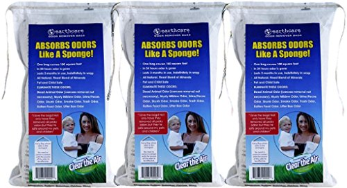 Earth Care Odor Removing Bag Stinky Smells Pet Odor etc (3 Pack) by Earth Care