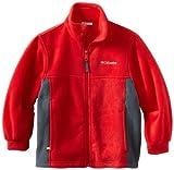 Columbia Big Boys' Steens Mountain Fleece, Bright Red, 14/16