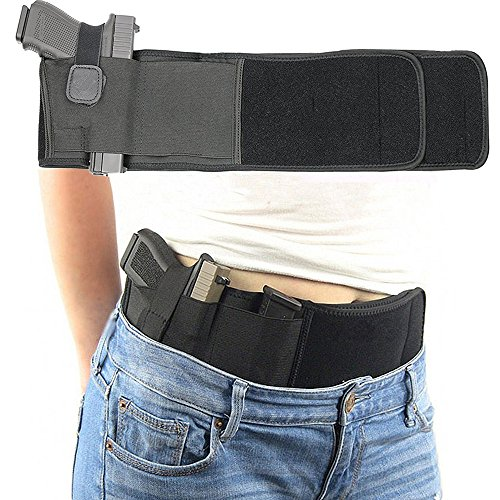 Belly Band Holster for Concealed Carry for Men&Women,Neoprene Elastic Adjustable Waistband Gun Holster,Hand Gun Holder Fits Gun Glock, Ruger LCP,M&P,Sig Sauer,Ruger,Kahr,Beretta,1911 - Shoulder Holster 32