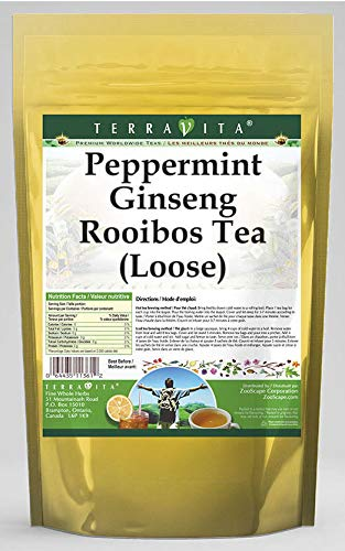 Peppermint Ginseng Rooibos Tea (Loose) (8 oz, ZIN: 542912) - 3 Pack