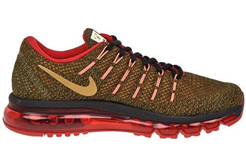 Nike Dameslucht Max 2016 Rcr, Zwart / Metallic Goud - Breed Oranje -atomisch Pn Zwart / Metallic Goud - Breed Oranje -atomisch Pn