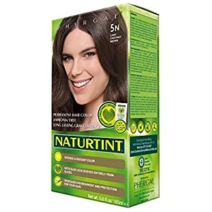 Naturtint Permanent Hair Color 5N Light Chestnut Brown (Pack of 6), Ammonia Free, Vegan, Cruelty Free, up to 100% Gray Coverage, Long Lasting Results