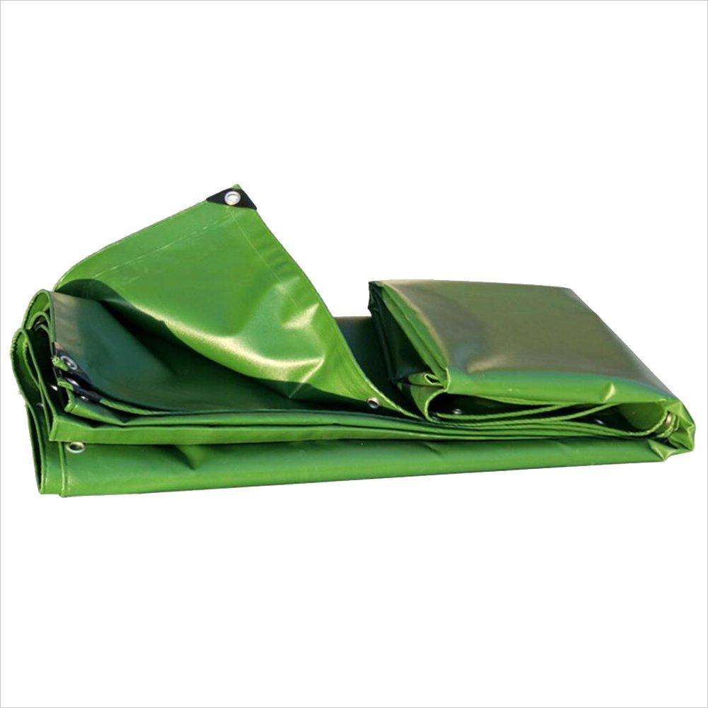 NANIH Home Regenschutztuch wasserdicht Extra Dicke Plane Plane Regendichte Sonnencreme-Markise Frostschutzmittel verschleißfest Militärgrün (Farbe   A, Größe   3 x 5m)