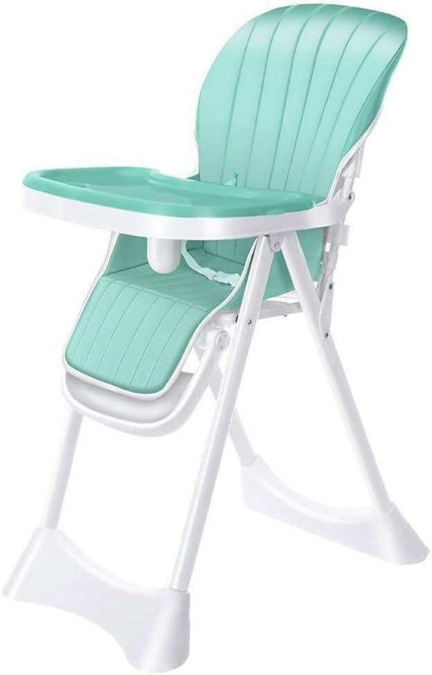 LAZ ハイチェアベビー給餌ダイニングチェア幼児/幼児ブースターと高さ調節可能な座席と5位トレイ (色 : 青)