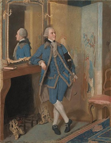 Polyster Canvas ,the High Resolution Art Decorative Canvas Prints Of Oil Painting 'Portrait Of John, Lord Mountstuart, Later 4th Earl And 1st Marquess Of Bute, 1763 By Jean-tienne Liotard', 10x13 Inch / 25x33 Cm Is Best For Hallway Decoration And Home Decor And Gifts ()