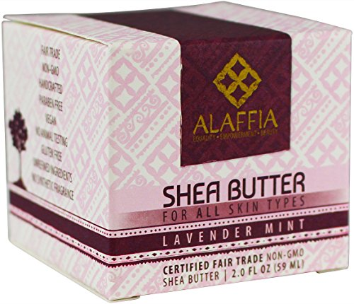 Alaffia Handcrafted Fair Trade Shea Butter 2 oz 4 100% FAIR TRADE: Feel good about how you are getting your products with 100% Certified Fair Trade Ingredients. PROTECT YOUR SKIN WITH A HANDCRAFTED FORMULA: Receive the full moisturizing and protective benefits of its unique fatty acid profile and Vitamins A and E with our traditionally handcrafted, unrefined shea butter. EVERYDAY FOR EVERYONE: Traditional formula suits all skin types.
