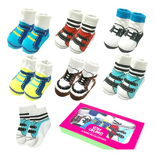 Baby Bootie Infant Socks - 6 Pairs 0-10 month Baby Newborn Ankle Sock Toddler Crew Walkers Bootie Infant Socks (Mixed style 2)