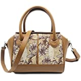 Stingray Genuine Leather Shoulder Bag Or Carry Handbag (Brown Orchid)