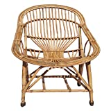 H M Services Cane Lawn Chair with Cushion (Brown)