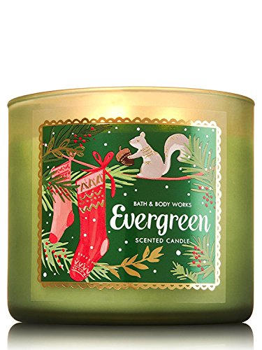 Bath and Body Works 3 Wick Scented Candle 14.5 ounce Holiday Evergreen