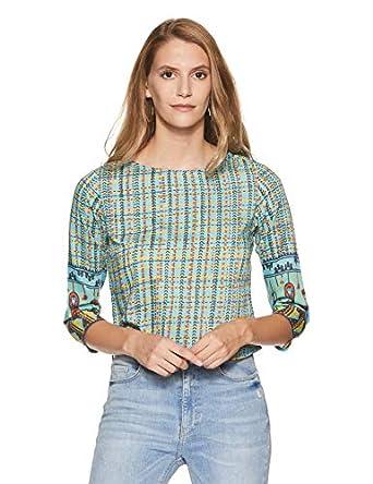 global desi Women's Checkered Regular Fit Shirt