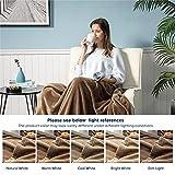 Bedsure Fleece Blanket Throw Blanket Taupe - 300GSM