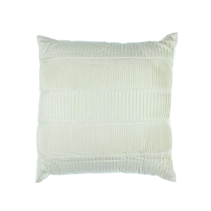 Amazon Hotel Collection Pleated Ivory 40 Square Decorative Simple Hotel Collection Decorative Pillows
