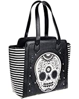 Loungefly Women's Striped Tote Bag - One Size, Black/White/Gold