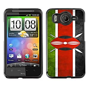 LJF phone case Shell-Star ( National Flag Series-Kenya ) Snap On Hard Protective Case For HTC Desire HD / Inspire 4G